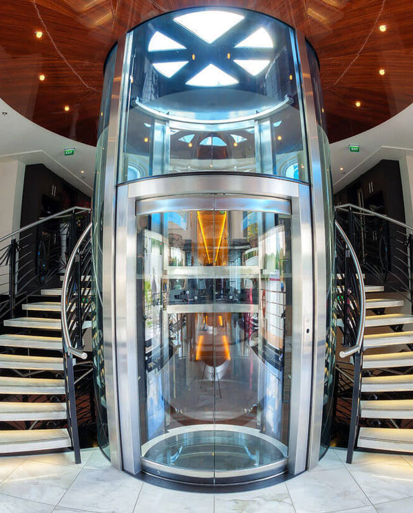 Observation or Panoramic Elevators