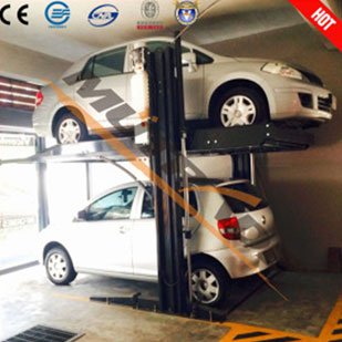 2 Level Car Park With Central Support - 2 Level Parking System