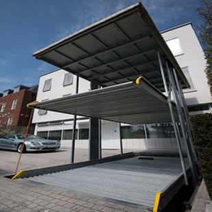 Ground + Upper Level with Roof Shed - 2 Level Parking System