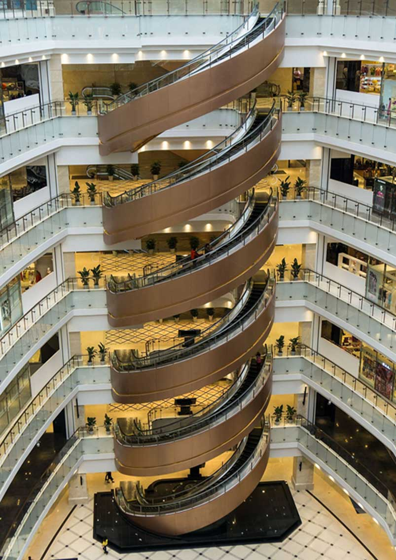 Spiral Step Escalator